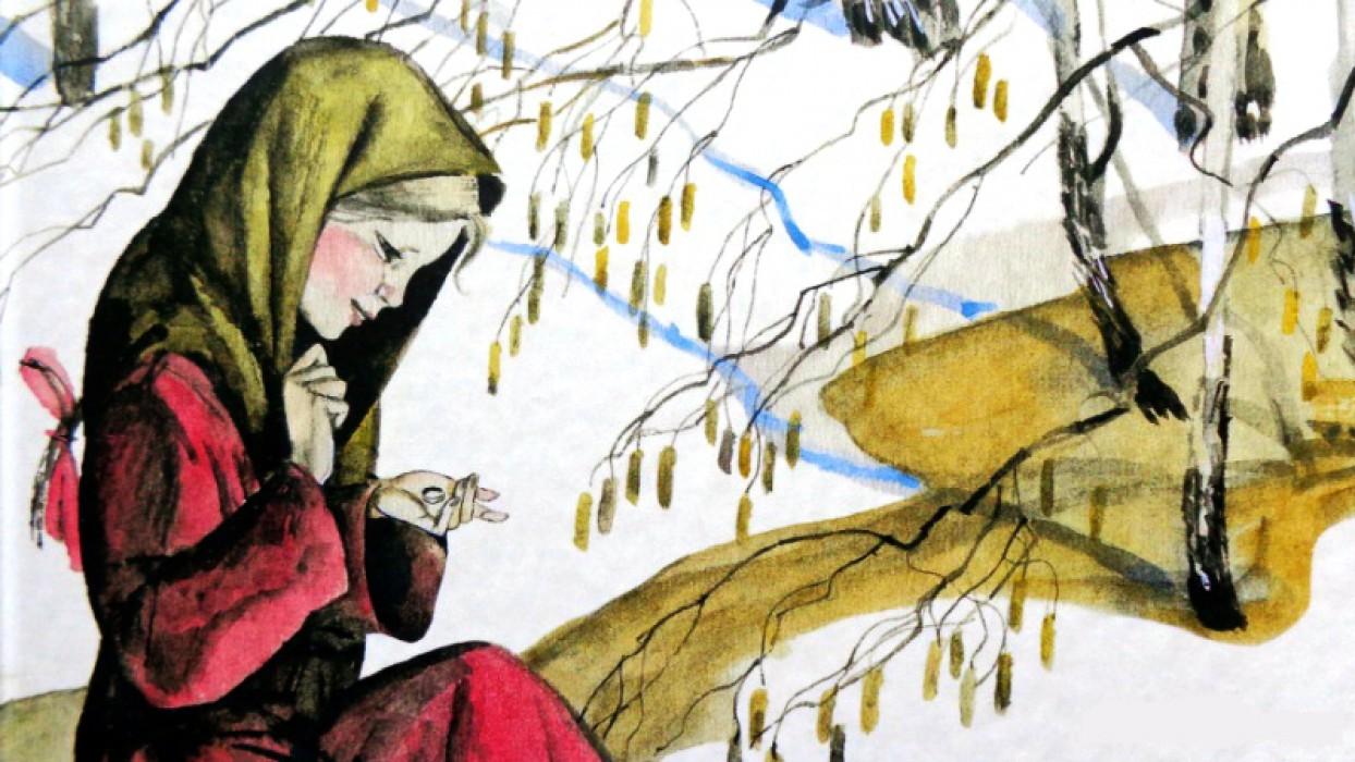 """Гелавная героиня Варюшка из рассказа К. Паустовского """"Стальное колечко""""."""