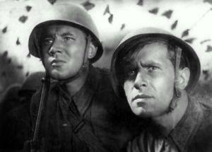 "Кадр из фильма ""Два бойца""."