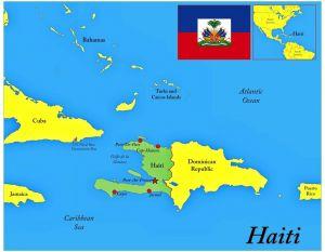 карта и флаг Гаити