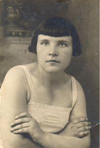 А.В. Козлова в юности