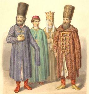 Одежда бояр, XVII в.