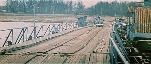 Мост через Клязьму. Вид со стороны города. Кадр из фильма