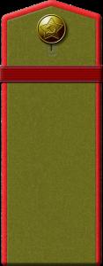 Погоны полевые. Род войск_Артиллерия Бронетанковые войска. Автомобильные войска. Воинское звание - Ефрейтор. Погоны с одной полосой и пуговицей.