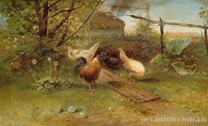 Картина А. К. Саврасова «Летний день. Куры на задворках»