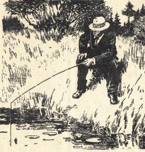 """Иллюстрация """"А. П. Чехов на рыбалке"""""""