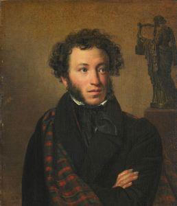 "О. А. Кипренский ""Портрет А. С. Пушкина"", 1827 г."