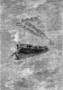 Летательный аппарат. Иллюстрация Л.Бенетта.