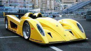 Современный гоночный дизайнерский автомобиль