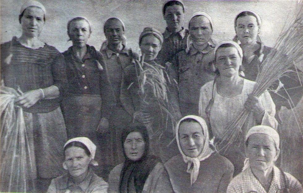 Звено Тарасовой М.И. из колхоза «Путь к социализму»