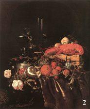 Картина - Натюрморт с фруктами, цветами и лобстером. Художник Ян Давидс де Хем