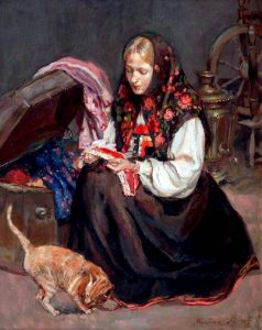 Девушка в русском народном костюме