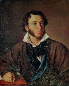 """Портрет В. А. Тропинина """"А. С. Пушкин"""", 1827 год"""