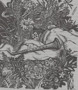 """Иллюстрация из книги С. К. Никитина """"Чудесный рожок"""""""