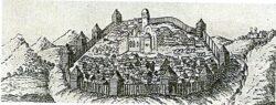 Деревянная крепость в Торжке.
