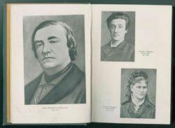 Портреты на развороте книги