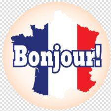 слово на французском языке на фоне флага страны
