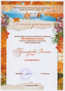 Прохорова Элина 8 лет