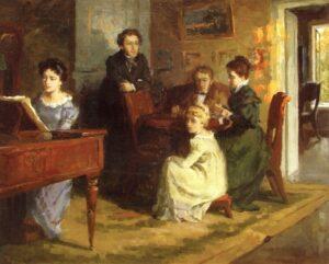 Бригер Б. Г. Пушкин в Тригорском