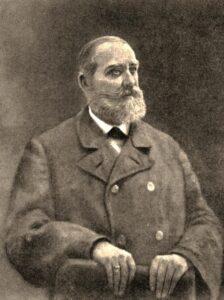 Репин И. Портрет историка С. М. Соловьева (1880)