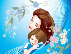 Социально-психологический форум. Мама и дочь обнимаются