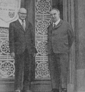 Л. В. Черепнин и член-корреспондент АН Молдавской ССР Н. А. Мохов, май 1972 года., Кишинев