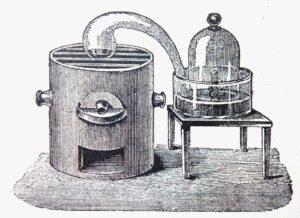 Аппарат Лавуазье, предназначенный для производства водорода
