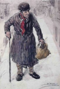 В. Маковский. Плюшкин. 1900 год