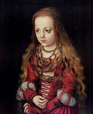 Лукас Кранах Старшиий. Портрет Саксонской принцессы. 1517 г.