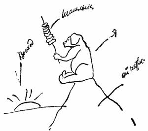 Щен и шашлык