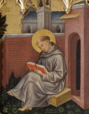 Джентиле да Фабриано. Фома Аквинский (деталь полиптиха). ок. 1400.