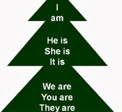 елка с надписью