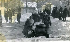 """Съемки фильма """"Восхождение"""". Фото В. Шибанова. 1976 г."""