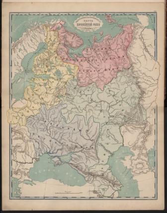 Карта Российской империи середины XiX века