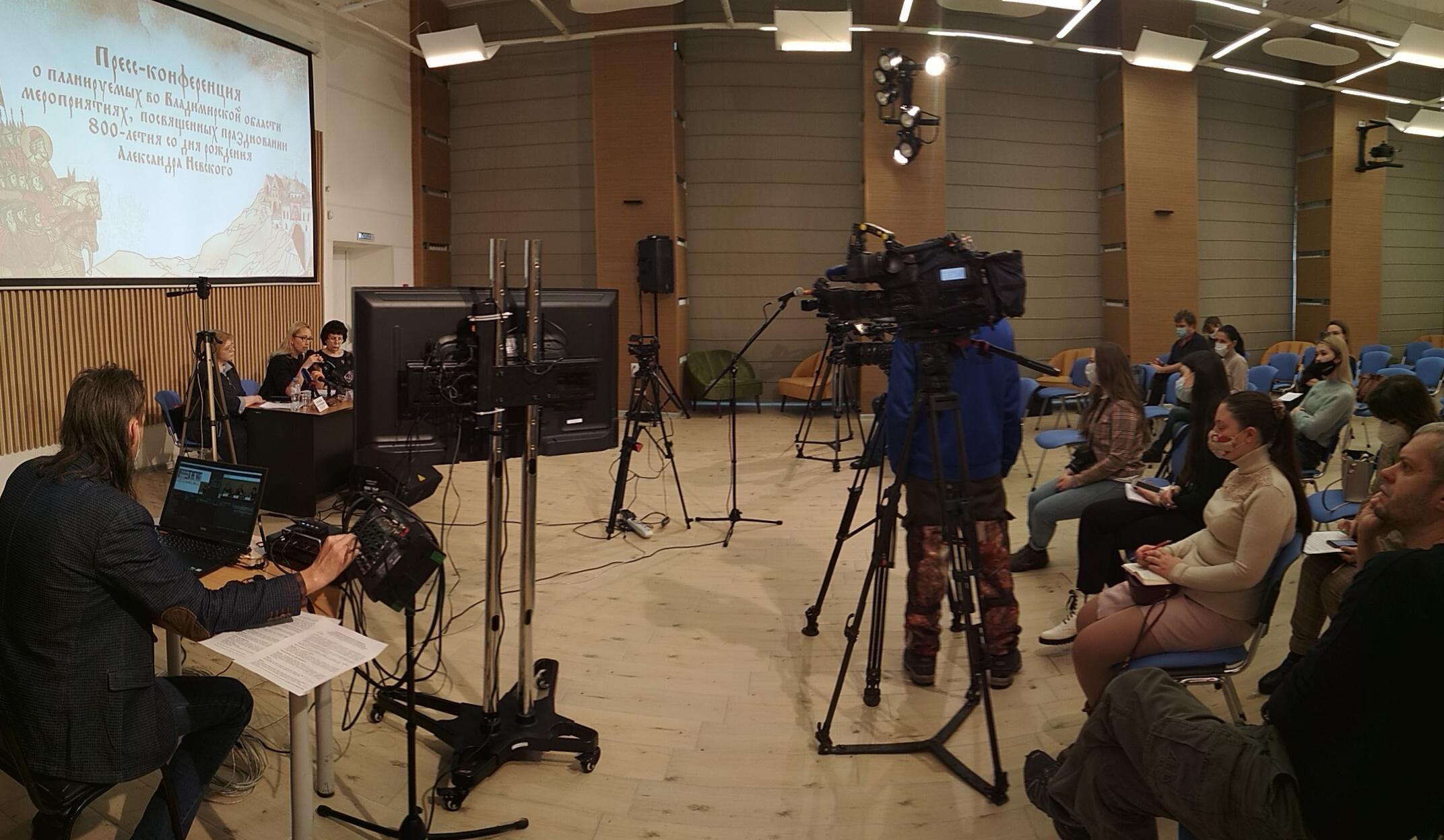 Пресс-конференция в библиотеке