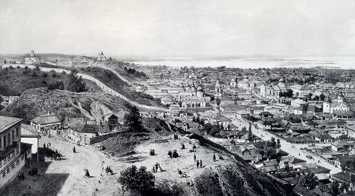 Вид Киева первой половины 19 века
