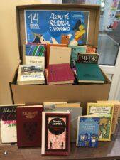 Книги в подарок. Фото Пункта сбора книг.