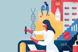 Международный день женщин и девочек в науке. Иллюстрация