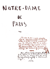 Нотр-Дам-де-Пари - роман не только о любви. История Виктора Гюго Первая страница манускрипта. Национальная библиотека Франции