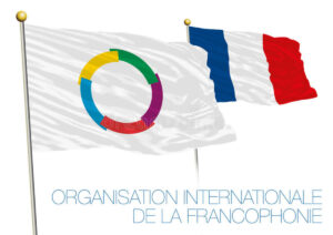 флаг франции и флаг франкофонии