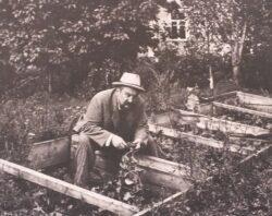 Куприн Александр Иванович за работой в саду