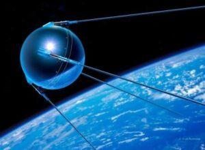 Фото с изображением мскусственного спутника Земли