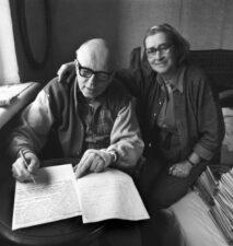 Фото А.Сахаров с женой Е.Боннэр