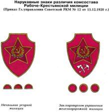 Нагрудные знаки различия комсостава, 1920
