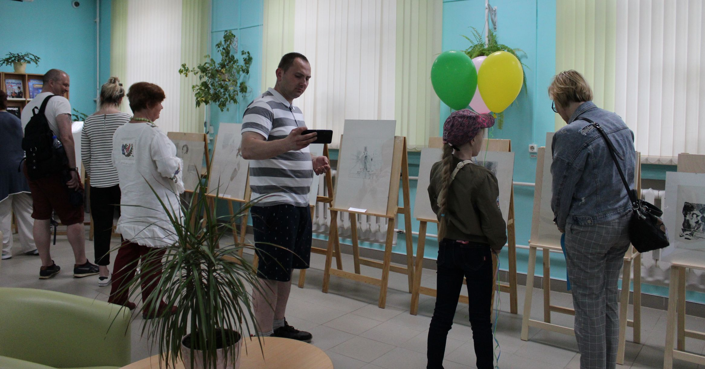 На выставке Горяева