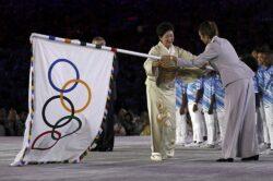 Флаг олимпийский в Токиоо